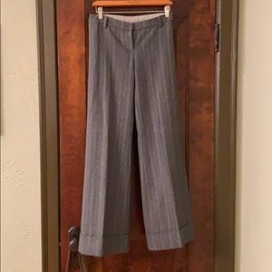 Anthropologie wide legged and lined trouser.